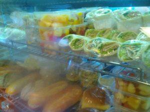 een uitgebreid, lekker (en gezonder) menu tijdens het NK in de kantine van SC 't Gooi